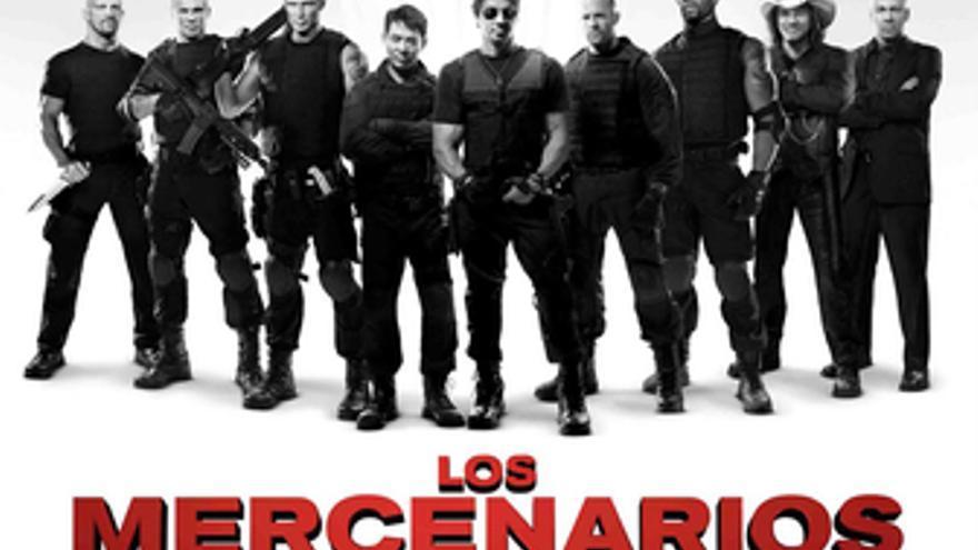Elenco de actores de 'Los Mercenarios'. (EUROPA PRESS)