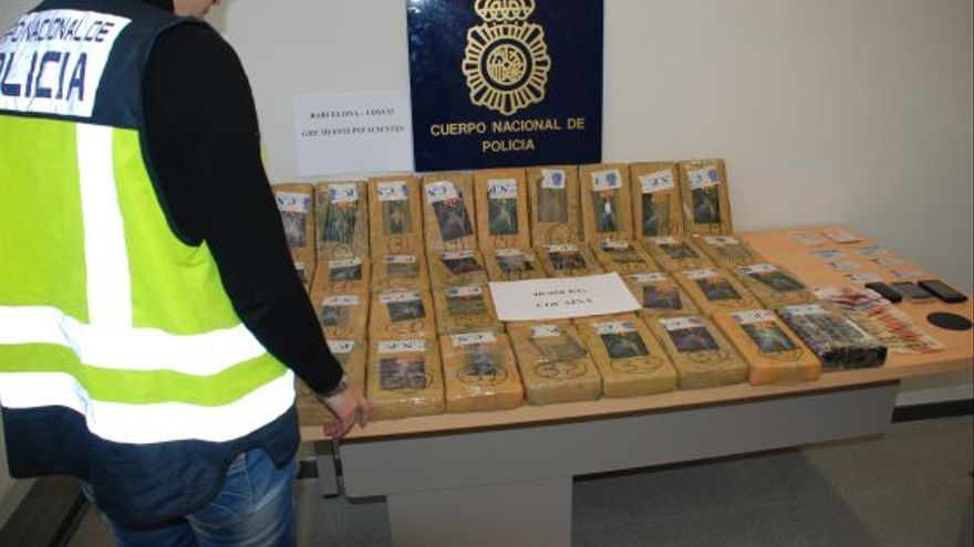Operación policial contra el tráfico de cocaína
