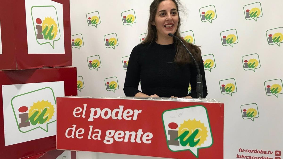 La coordinadora local de IU en Córdoba capital, María José Liñán, en una imagen de archivo.