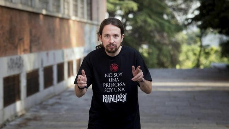 Pablo Iglesias en una imagen de archivo de 2016 con una camiseta de Juego de tronos
