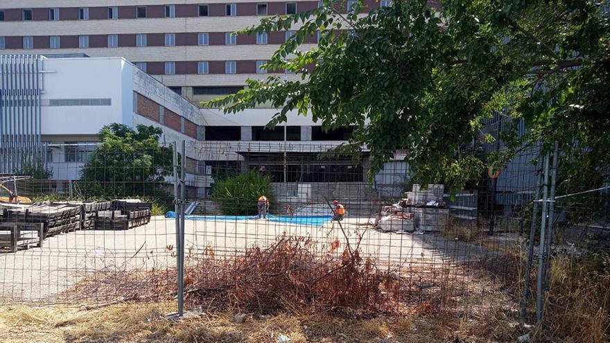 El Hospital Militar está ahora a punto de terminar una parte de las obras