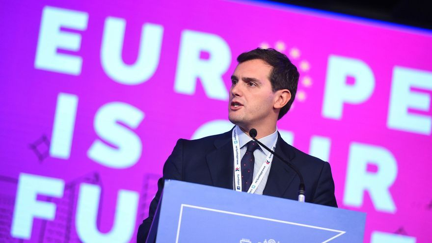 Albert Rivera, en el congreso de los liberales europeos celebrado en Madrid en noviembre de 2018