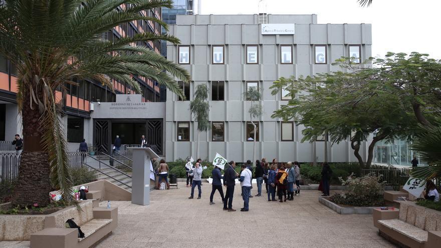 Edificio de Usos Múltiples II de Las Palmas de Gran Canaria, donde trabajan los empleados de Grecasa.