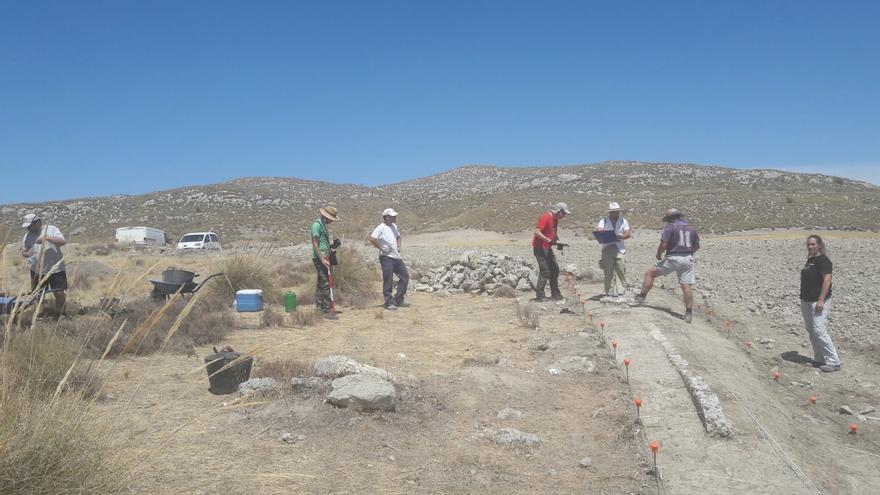 Excavación en Caraca en verano de 2019