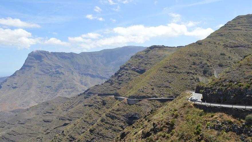 Carretera de Agaete-La Aldea a la altura de Andén Verde. Iago Otero.