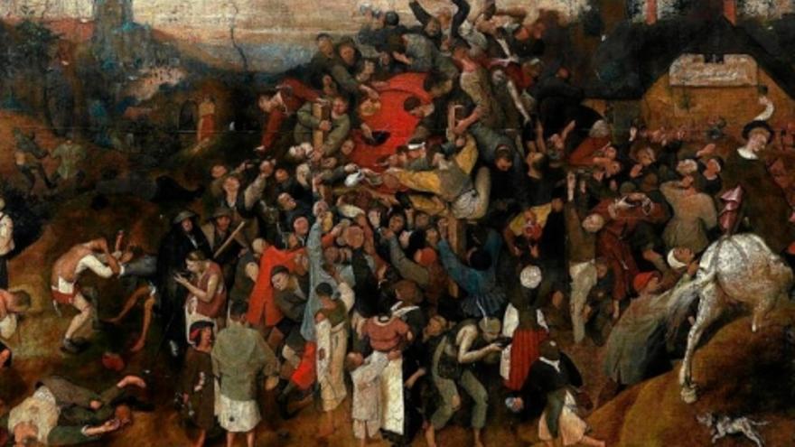 El vino de la fiesta de san Martín, de Peter Brueghel