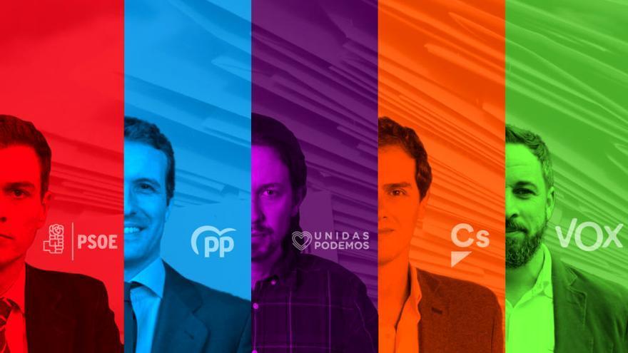 Los cinco candidatos del 'Debate a 5'