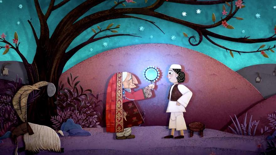 Un campesino ayuda a una señora mayor en uno de los relatos de 'El pan de la guerra'