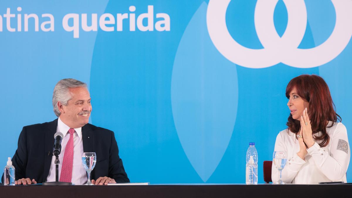Alberto Fernández y Cristina Kirchner en Casa Rosada