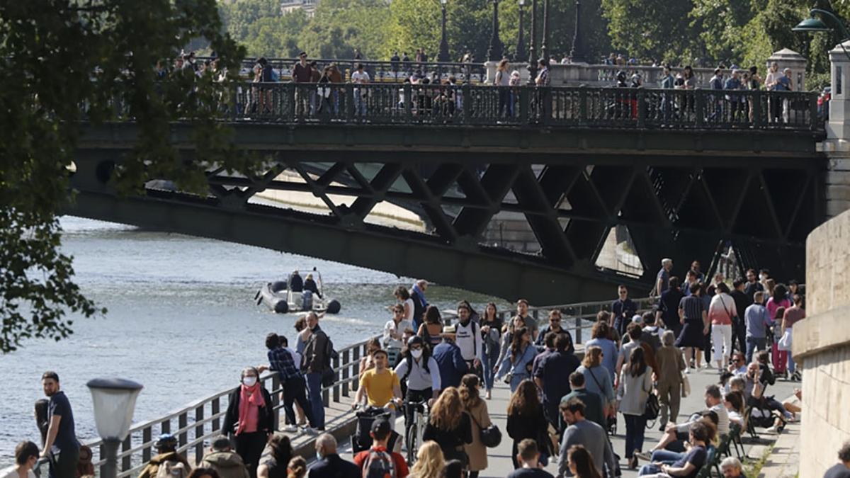 En las últimas 24 horas se registraron 2.549 nuevos contagios en Francia