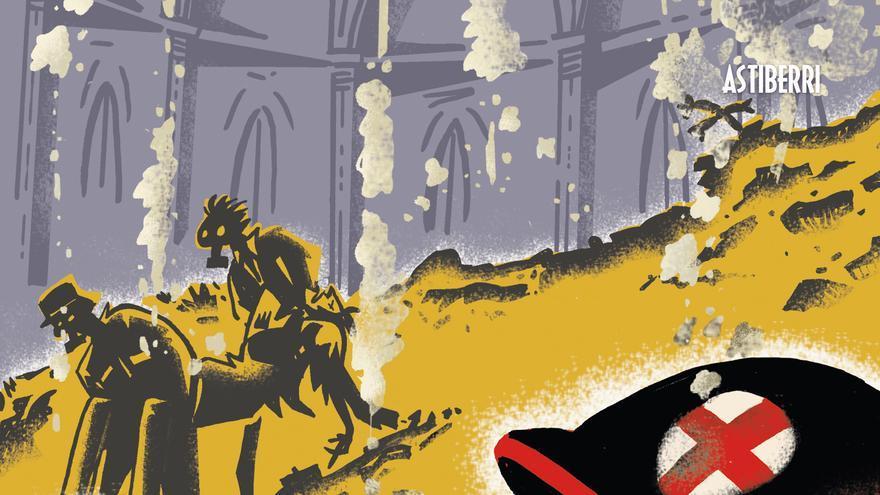 Portada de 'Doctor Uriel', de Sento. Uno de los mejores cómics sobre la Guerra Civil publicados en nuestro país.