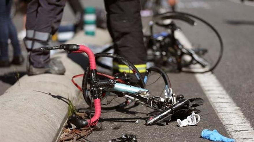 Una bici, tras un atropello. EFE