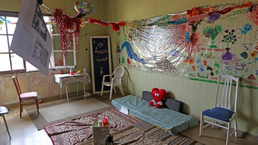 Sala para crear música en el Mural en el Centro Social La Bicicleta (ALEJANDRO RAMOS)