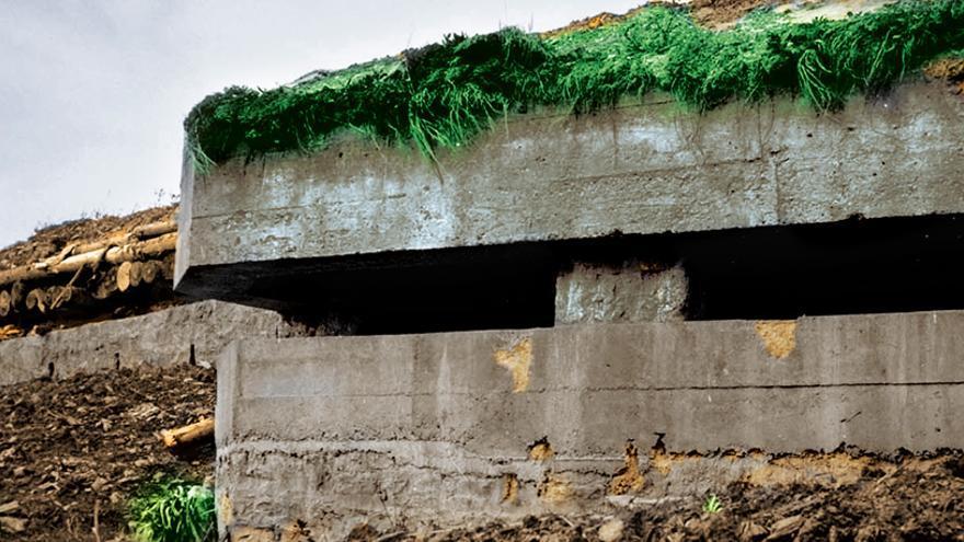 Uno de los búnkeres del Cinturón de Hierro, situado en Larrabetzu.