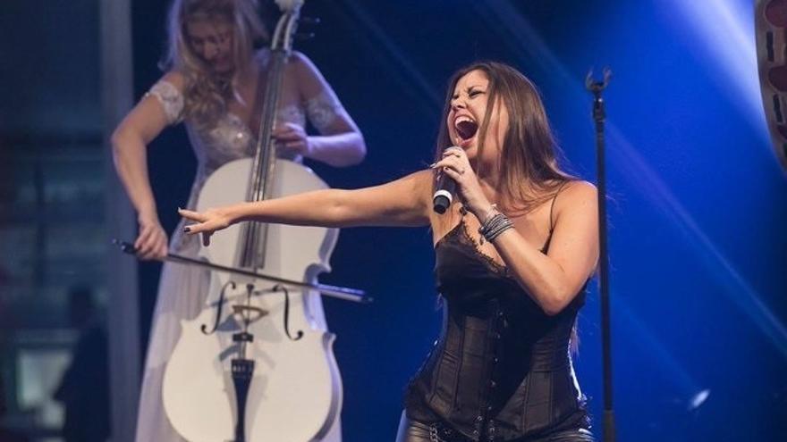 Cristina Ramos, durante una actuación