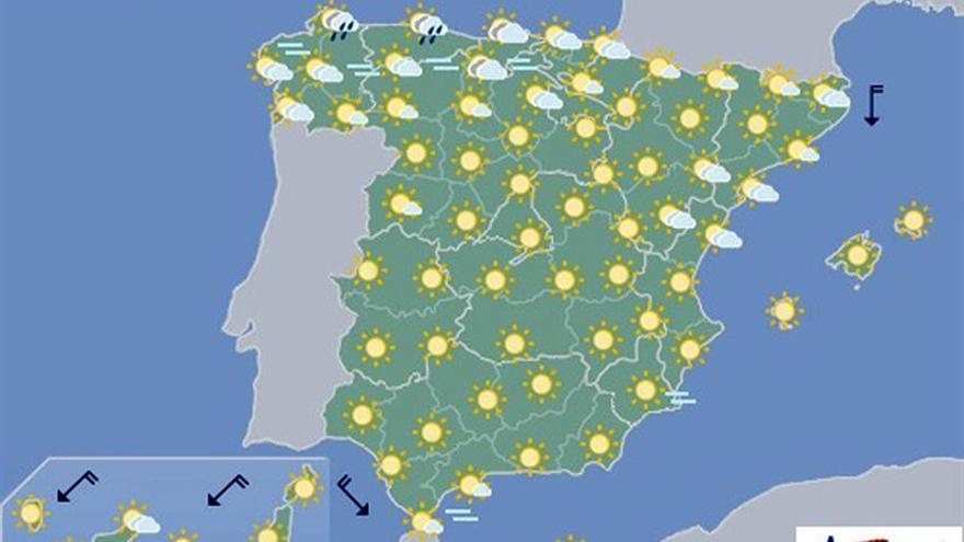 Las temperaturas siguen subiendo mañana en el tercio sur