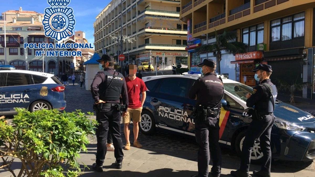 El presunto autor de un robo con violencia fue detenido en Puerto de la Cruz