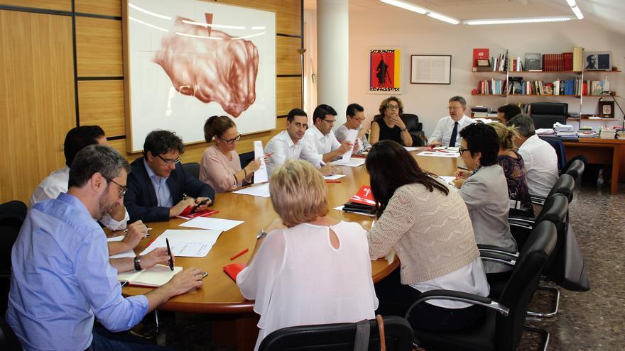Un momento de la reunión del Secretariado del PSPV en Valencia