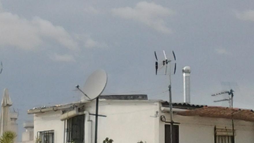 Varias antenas de TV.