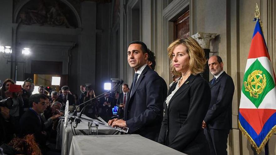 """El M5S y la Liga piden """"más tiempo"""" a Mattarella para ultimar su Gobierno"""
