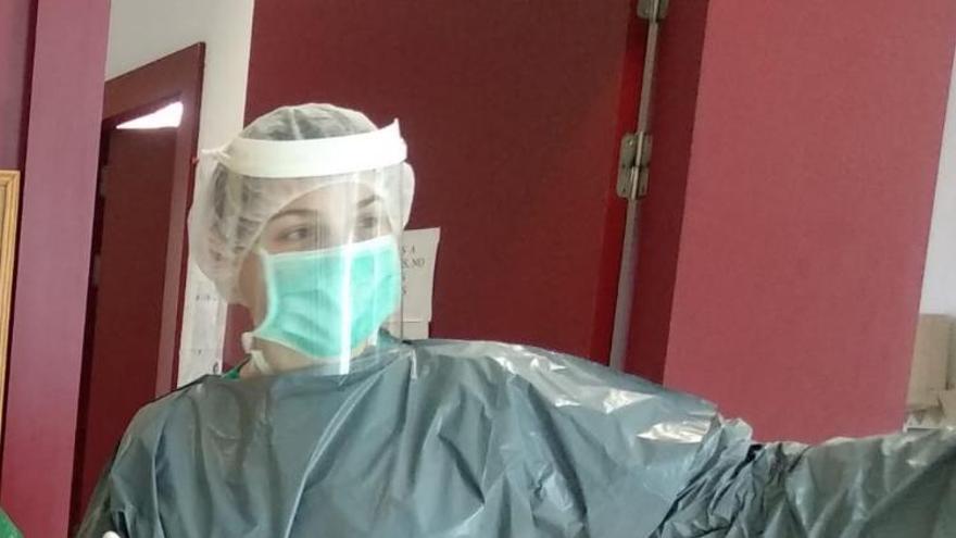 María S. en su centro de salud.