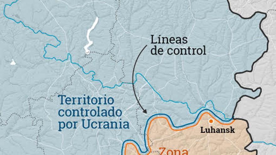 Mapa de los conflictos en Ucrania