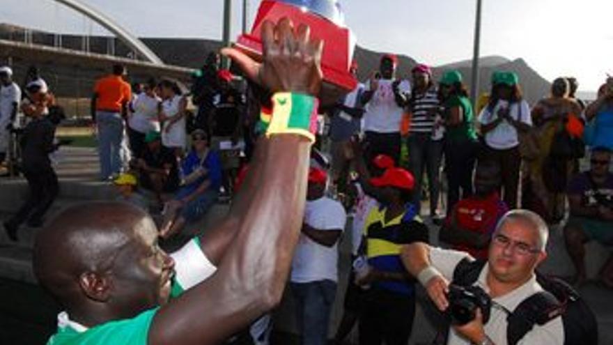 Victoria de Senegal en el campeonato de fútbol 7. (ACFI PRESS)