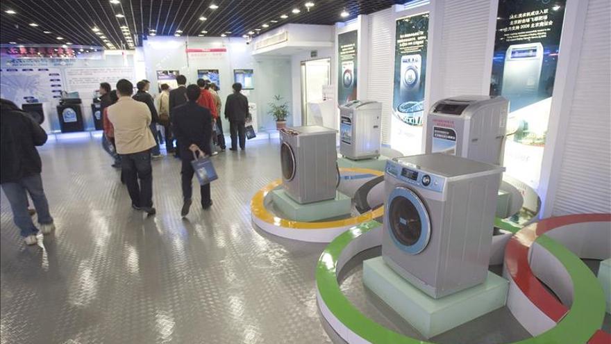 Imagen de archivo de una tienda de lavadoras