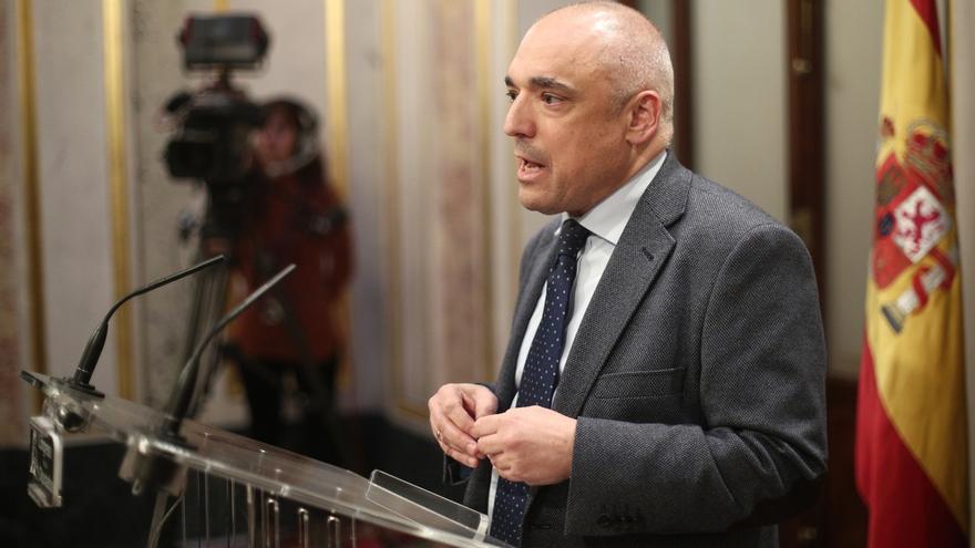 El secretario general del Grupo Socialista, Rafael Simancas.