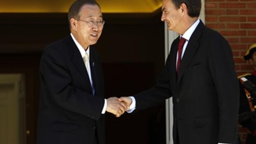 Ban Ki Moon Y Zapatero