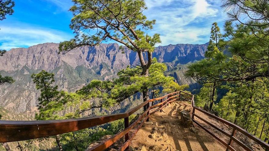Mirador del Lomo de las Chozas, en el Parque Nacional de la Caldera de Taburiente.
