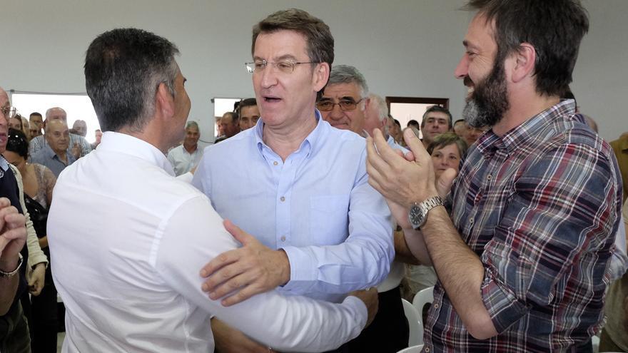Feijóo, este martes en un acto electoral en Arzúa (A Coruña) / PPdeG