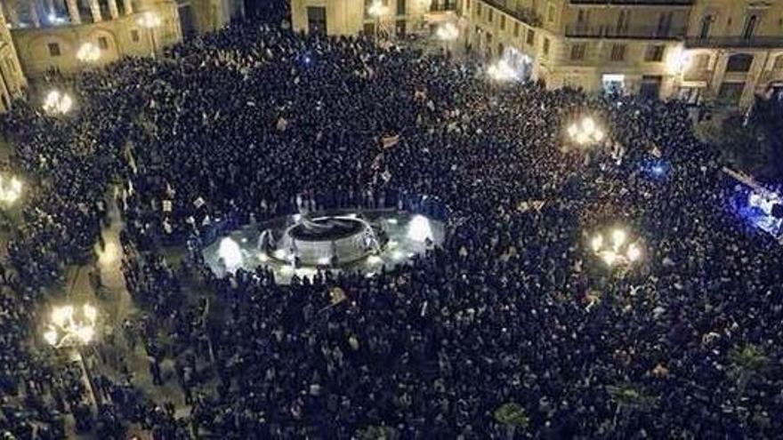 Manifestación Valencia cierre RTVV