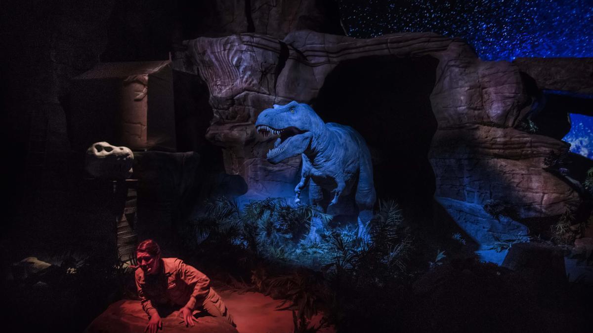 El show del T-Rex es uno de los más populares de Dinópolis, en Teruel