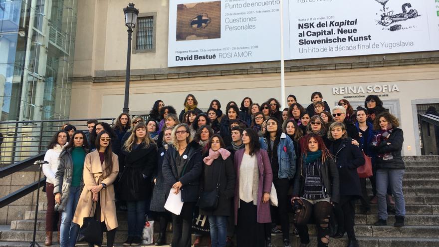 Integrantes de La Caja de Pandora en la presentación frente al Reina Sofía