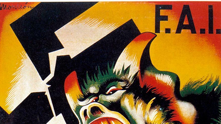 Cartel propagandístico de la FAI.