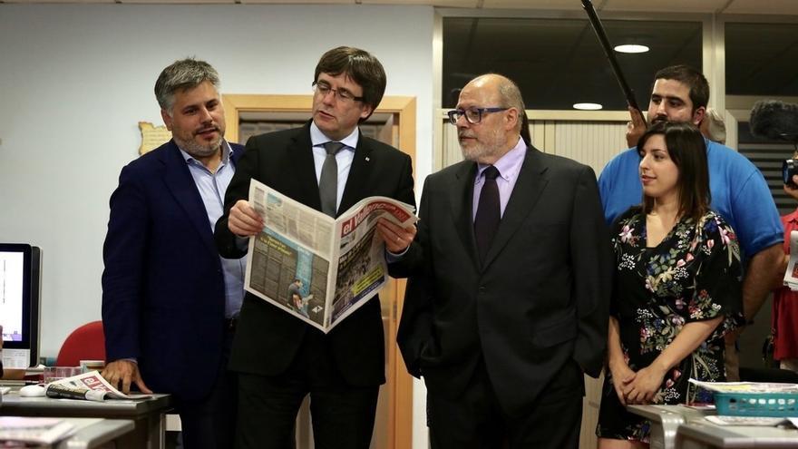 """Puigdemont celebra el """"entendimiento"""" con Colau para que se pueda votar en Barcelona"""