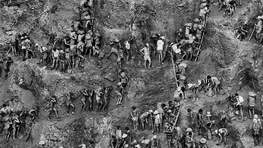 Mina de oro de Serra Pelada, en el Estado de Pará, Brasil (1986)
