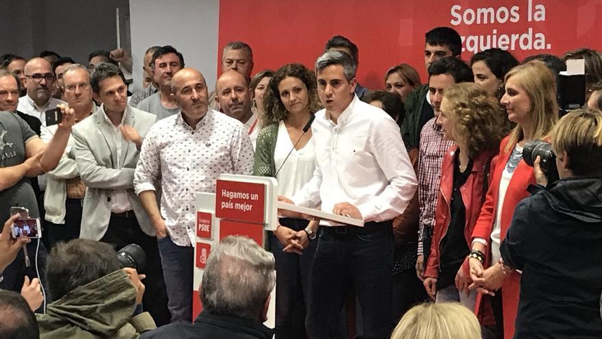 Zuloaga gana las primarias del PSOE con casi un 70% de los votos y confía en gobernar en 2019
