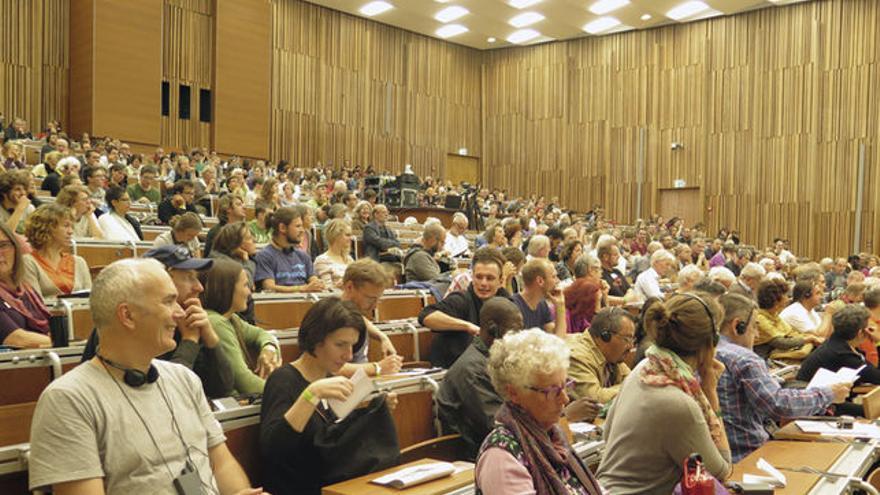 Participantes en el Congreso Internacional de Economía Solidaria, celebrado en Berlín.