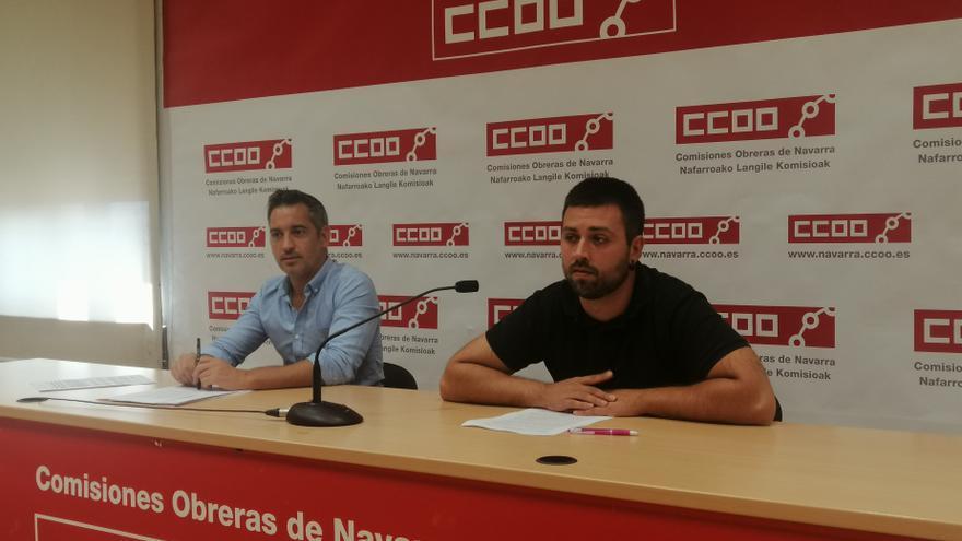 Joseba Eceolaza y Carlos de la Torre, de CCOO de Navarra