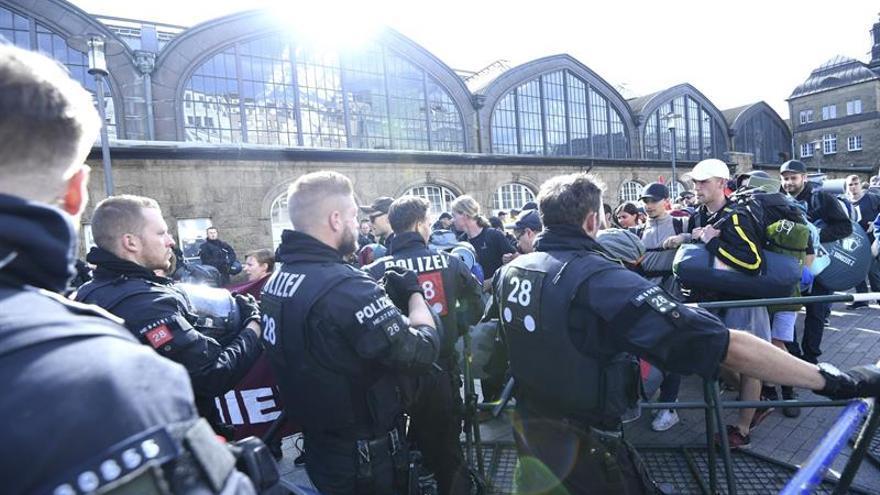 Más 19.000 policías desplegados en Hamburgo ante llegada líderes mundiales