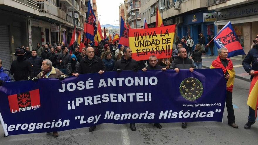 Manifestación de Falange en Callosa de Segura.