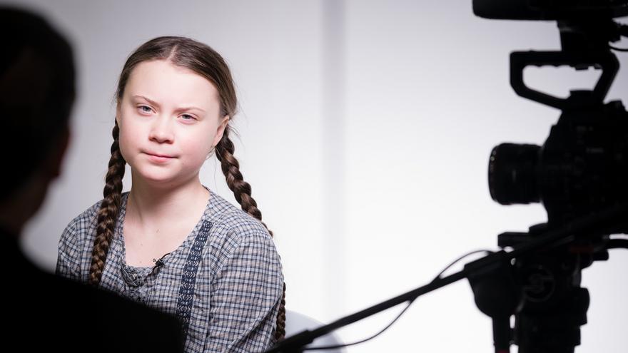 La joven sueca Greta Thunberg en la reunión del World Economic Forum el 25 de enero de 2019 en Davos