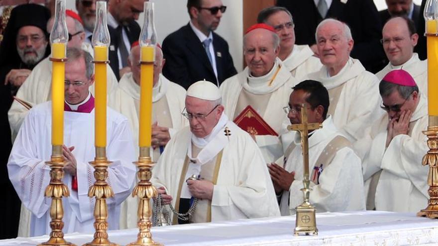 El papa Francisco en su viaje a Chile.
