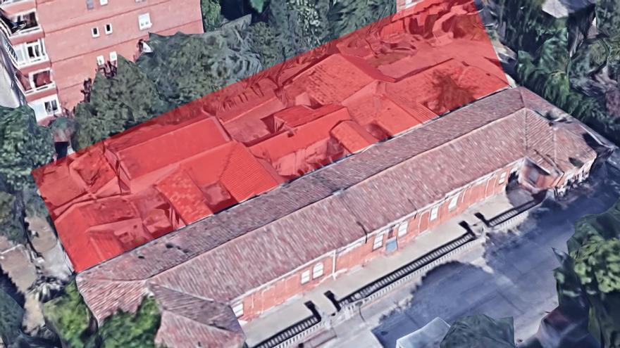 Zona aproximada que será derribada según el primer contrato aprobado por el Ayuntamiento | SOMOS CHAMBERÍ