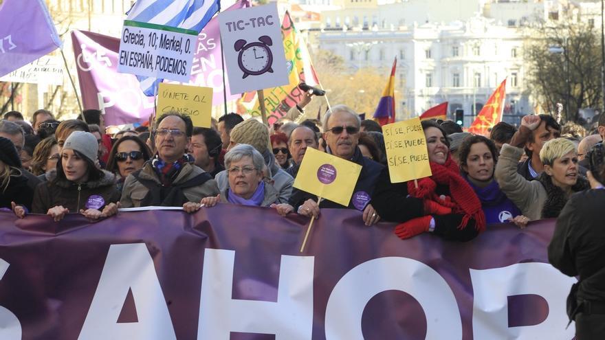 """González destaca que en la marcha convocada por Podemos este fin de semana no hubo """"ni una sola bandera española"""""""