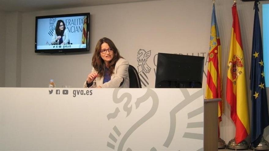 """Oltra no ve """"constitucional"""" que el concierto vasco permita a Euskadi tener el doble de dinero que a los valencianos"""