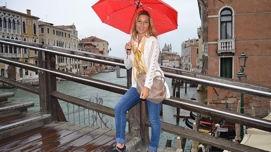 Laura Morales en Venecia. (Nanda Santana).