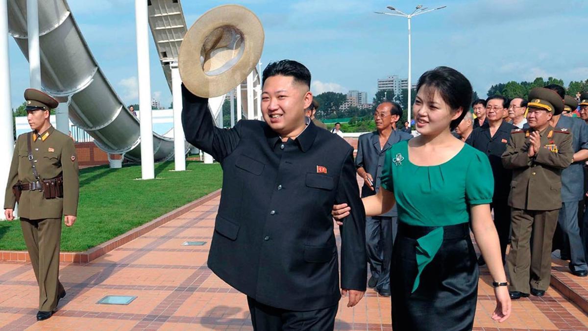 El líder norcoreano Kim Jong-un.Kim y su hermana, Yo Jong.